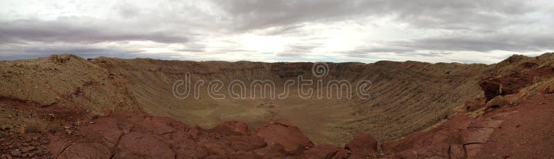 De Krater van de meteoor, Arizona royalty-vrije stock afbeeldingen