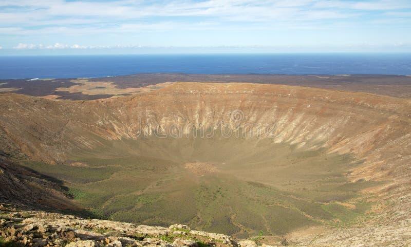 De Krater van de vulkaan, Lanzarote royalty-vrije stock afbeeldingen