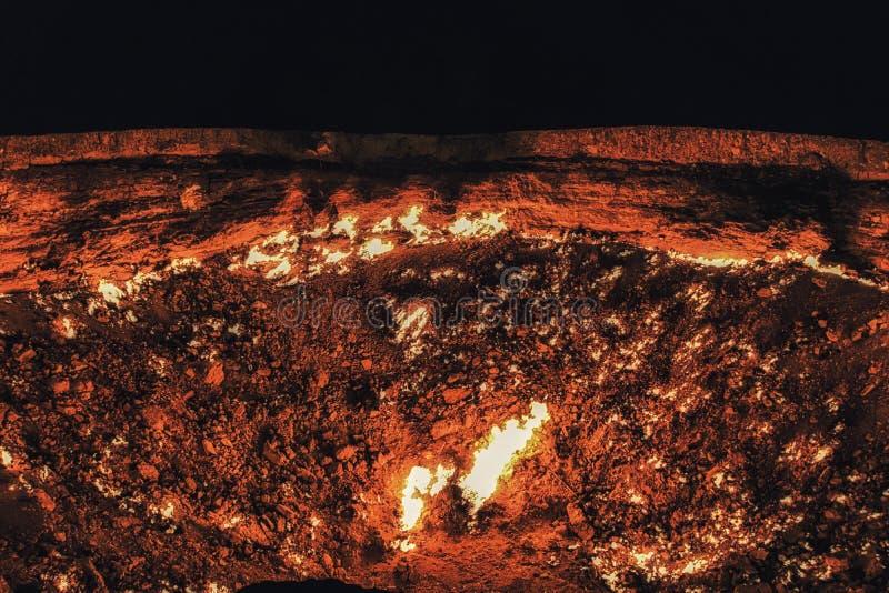De krater van het Darvazagas, Turkmenistan, Centraal-Azië, Azië royalty-vrije stock afbeeldingen