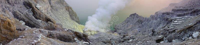 De Krater van Ijen stock fotografie