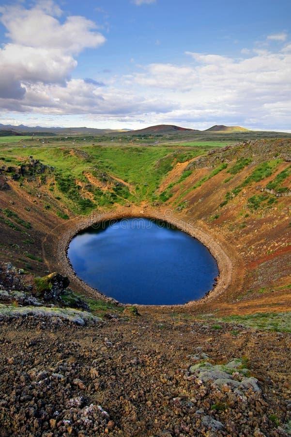 De Krater van Kerid stock fotografie