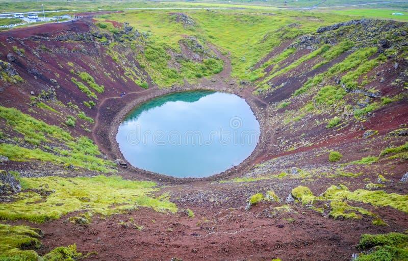 De Krater van Kerid royalty-vrije stock foto