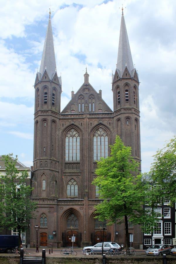 De Krijtberg, церковь Св.а Франциск Св. Франциск Xavier, Амстердам стоковое изображение rf