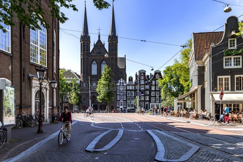 De Krijtberg Church at Amsterdam royalty free stock photo