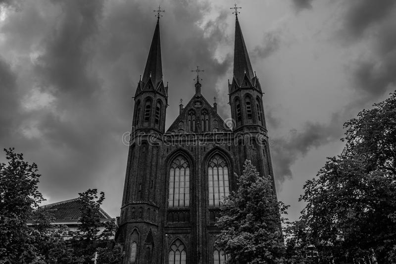 De Krijtberg kyrka fotografering för bildbyråer