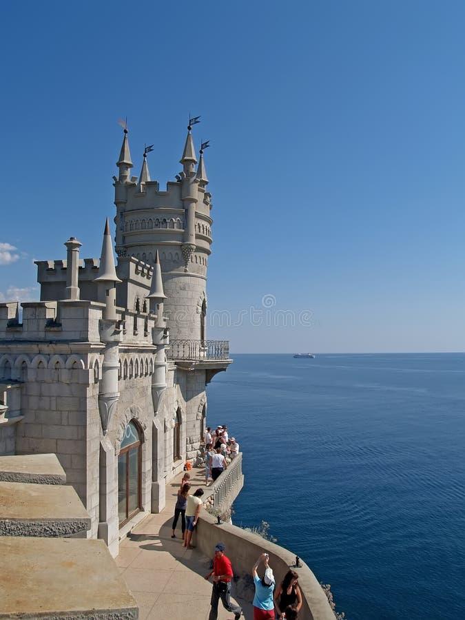 De Krim, de Oekraïne Het slot slikt het nest van ` s royalty-vrije stock afbeeldingen