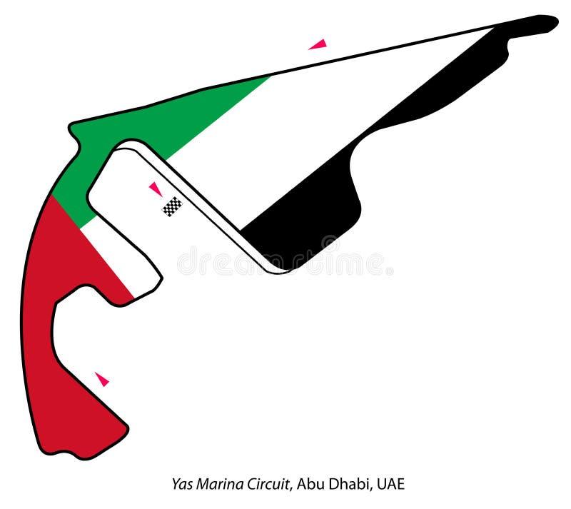 De kring van Abu Dhabi: Formule 1 stock illustratie