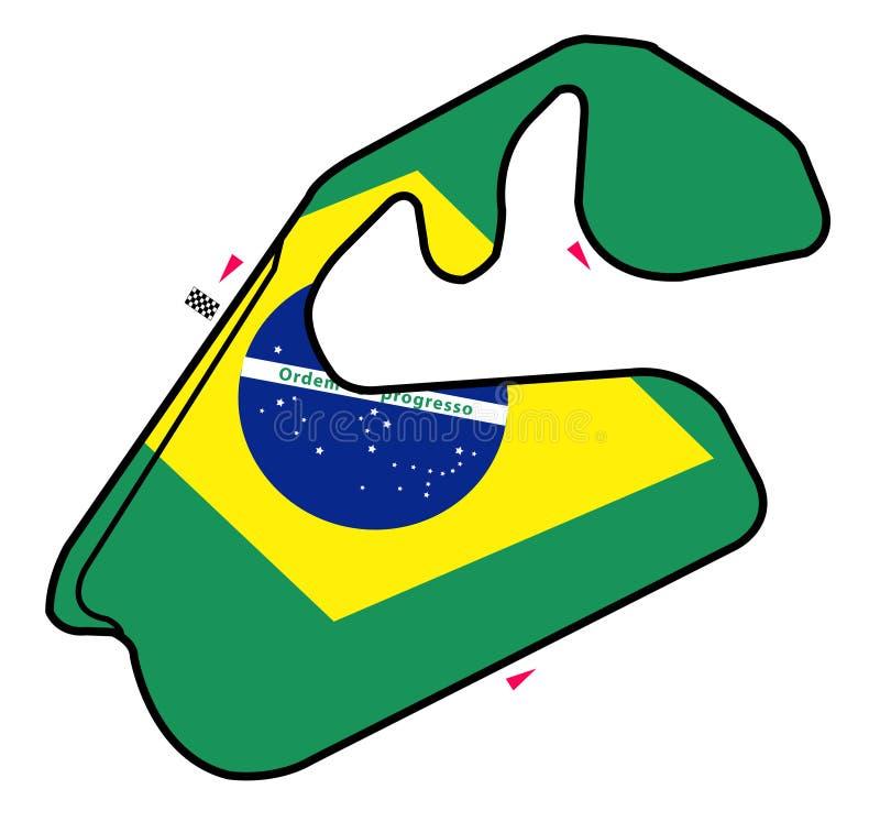 De kring van Brazilië: Formule 1 royalty-vrije illustratie