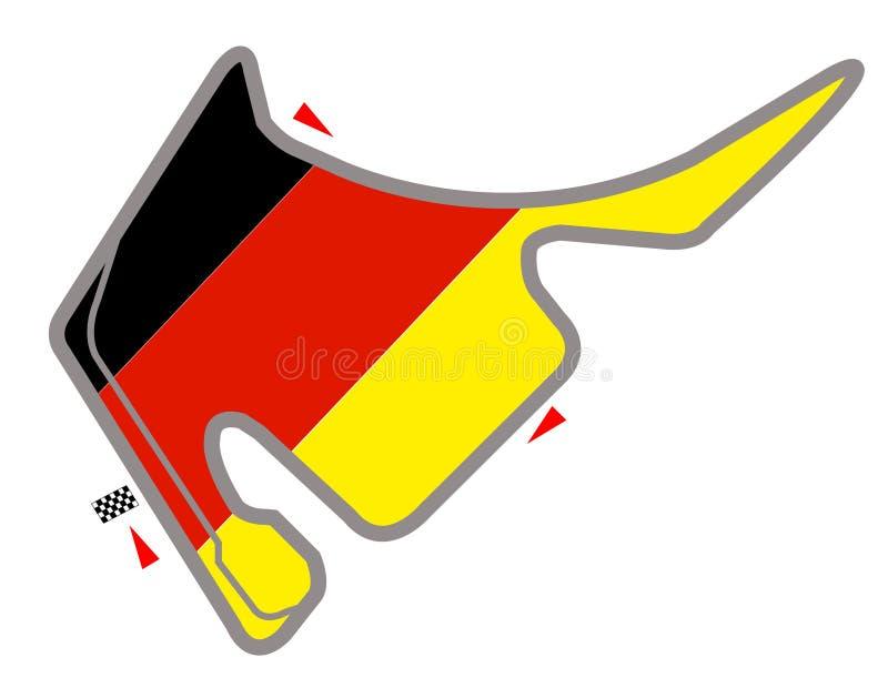 De kring van Duitsland stock illustratie