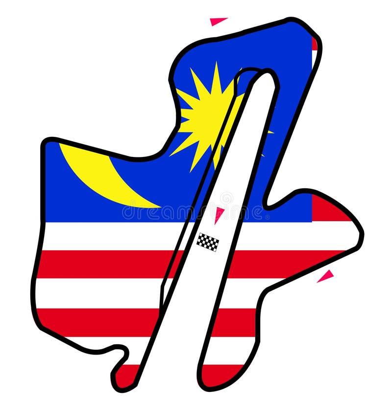De kring van Maleisië: Formule 1 stock illustratie