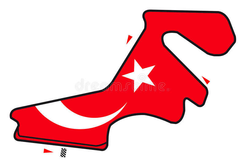 De kring van Turkije: Formule 1 stock illustratie