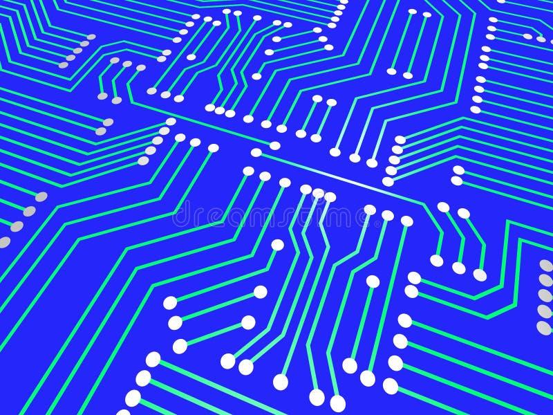 De kringsraad bedoelt hallo Technologie en Hi-Tech royalty-vrije illustratie