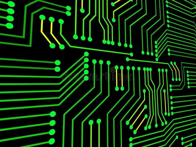 De kringsraad vertegenwoordigt hallo Technologie en Elektronika royalty-vrije illustratie
