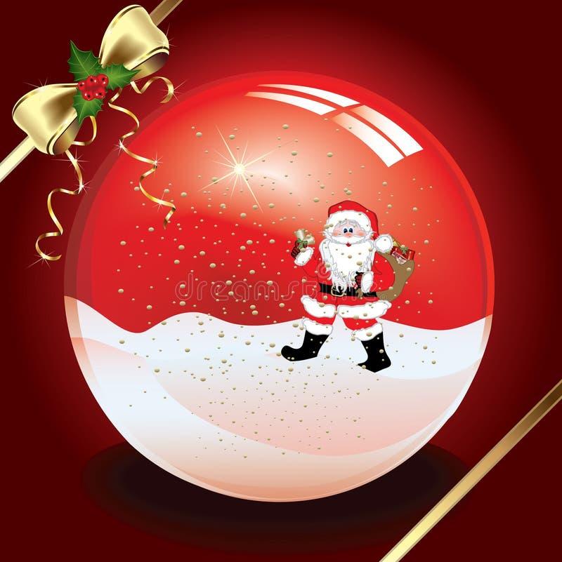 De kristallen bol van Kerstmis vector illustratie