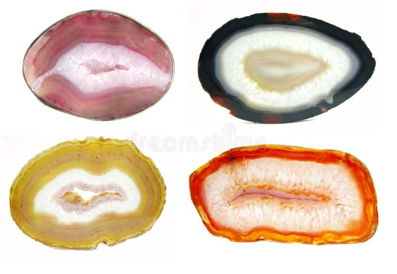 De kristallen van de agaat semigem geode royalty-vrije stock afbeelding