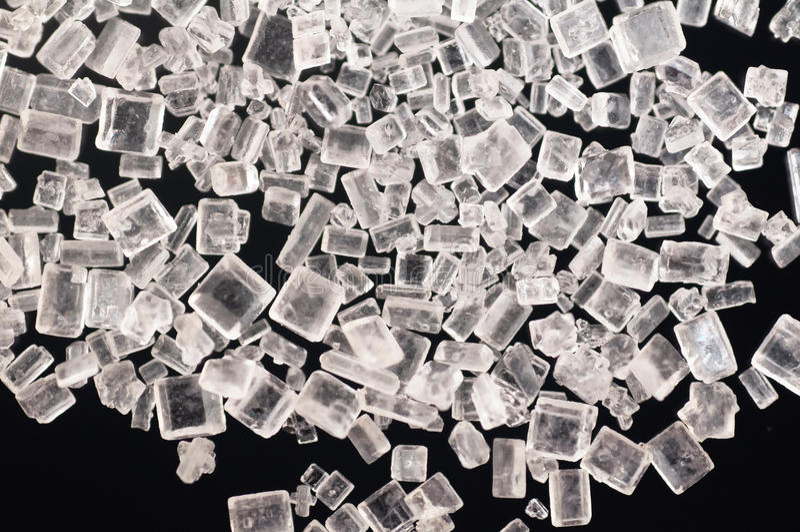 De Kristallen van de suiker stock foto