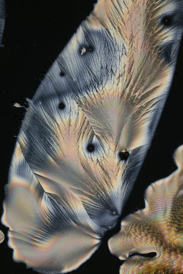 De kristallen van het Ascorbinezuur royalty-vrije stock afbeelding