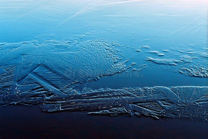 De kristallen van het ijs royalty-vrije stock afbeeldingen