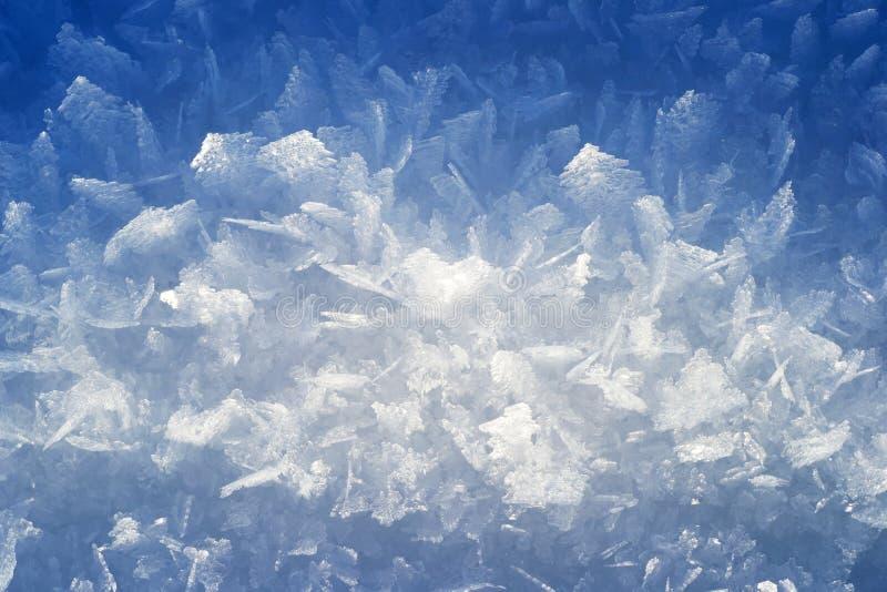 De kristallen van het ijs stock foto's