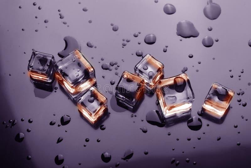 De kristallen van het ijs stock afbeelding