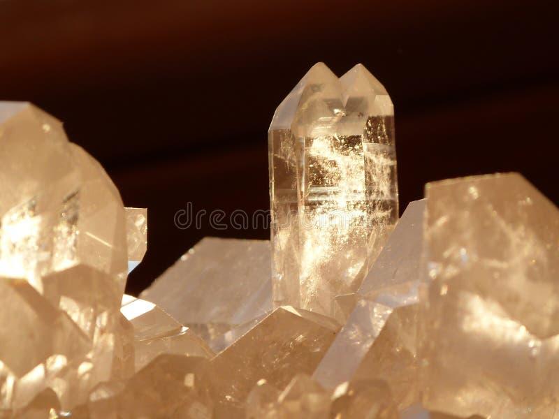 De kristallen van het kwarts royalty-vrije stock foto's