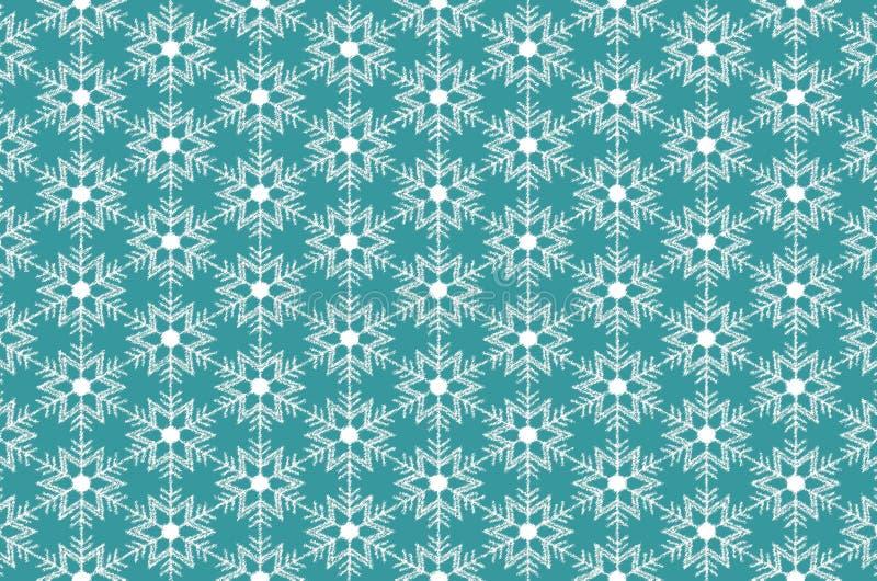 De kristallen van het sneeuwvlokkenijs op turkooise achtergrond royalty-vrije illustratie