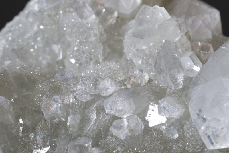 De kristallenclose-up van het kwarts. royalty-vrije stock afbeelding