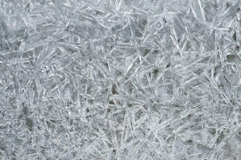 De kristallenpatroon van het ijs royalty-vrije stock fotografie
