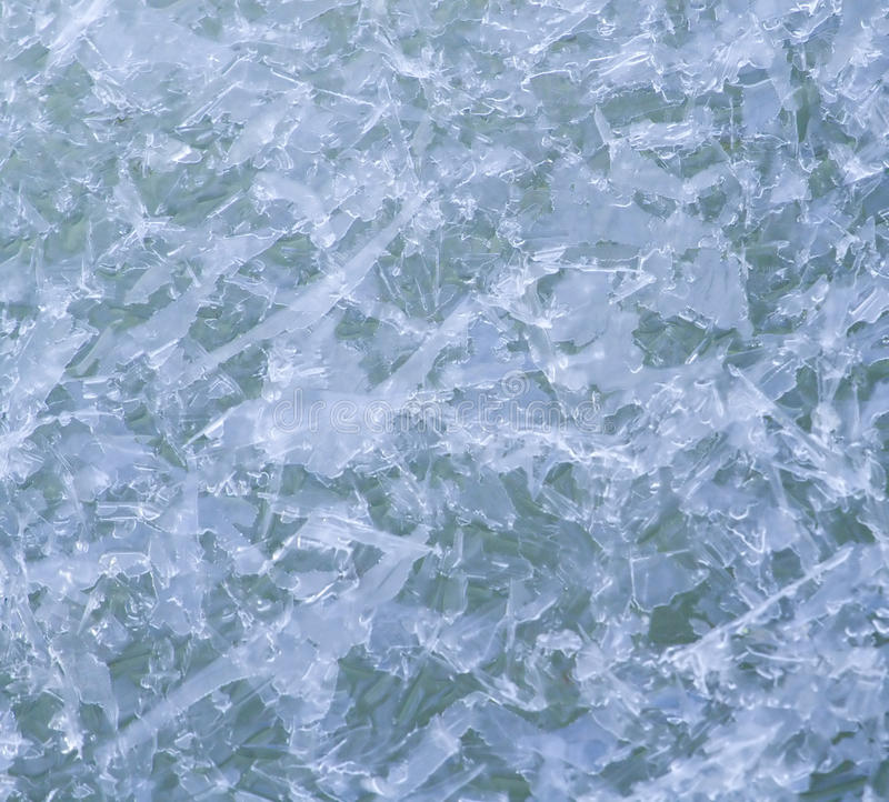 De kristallenpatroon van het ijs stock foto