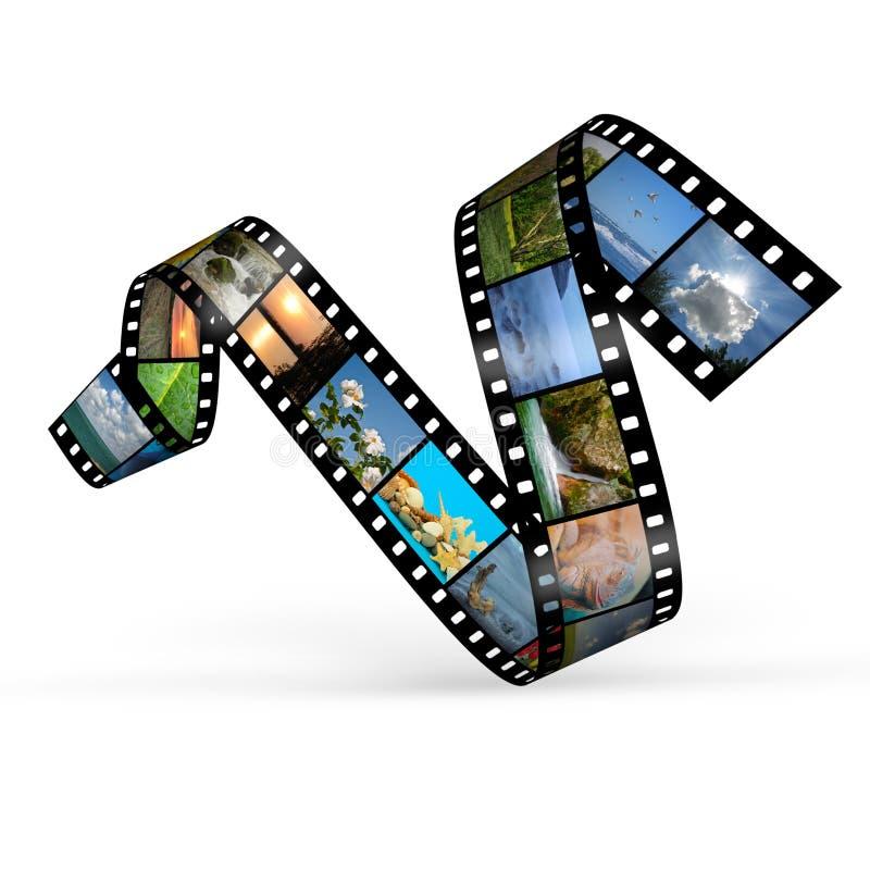 De kromme van de film met foto's stock illustratie