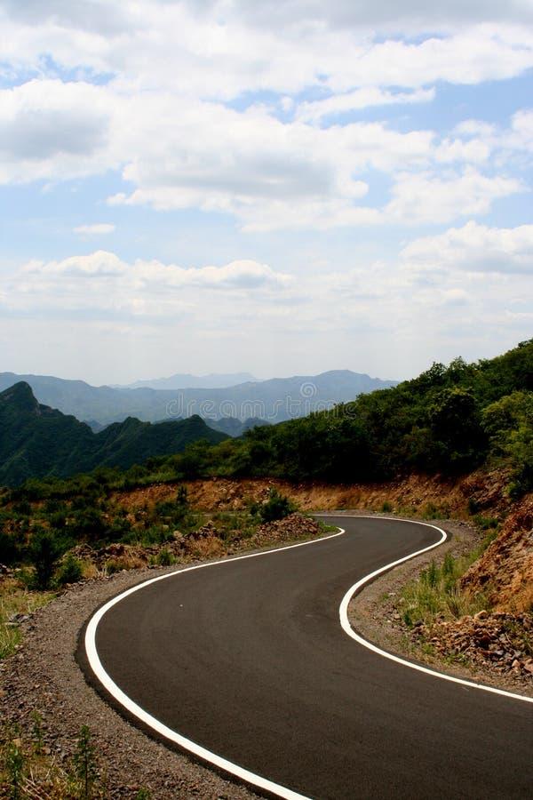 De kromme van de weg stock afbeelding