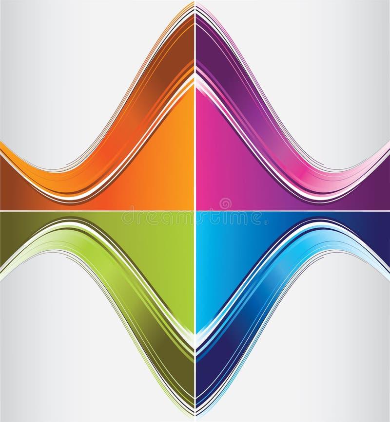 De krommeachtergronden van de kleur stock illustratie