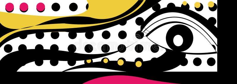 De de krommelijn van het PopArtoog stippelt halftone warholstijl royalty-vrije illustratie