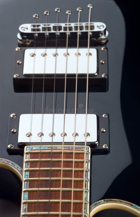 De krommen van de gitaar stock foto