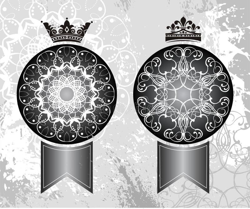De kronen van de koning en van de Koningin vector illustratie