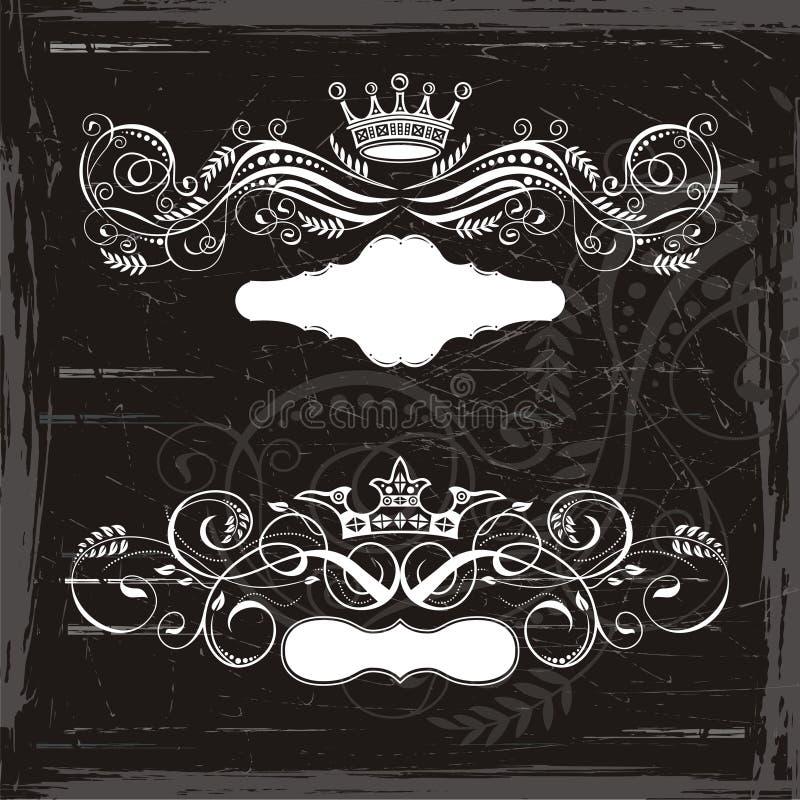 De kronen van de koning en van de Koningin stock illustratie