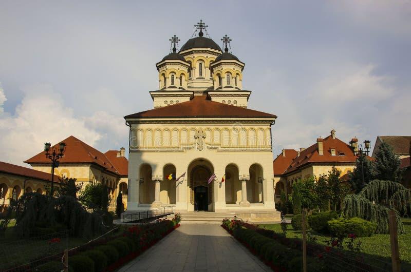 De Kroning Aartsbisschop Cathedral in Alba Iulia, Roemenië royalty-vrije stock afbeelding