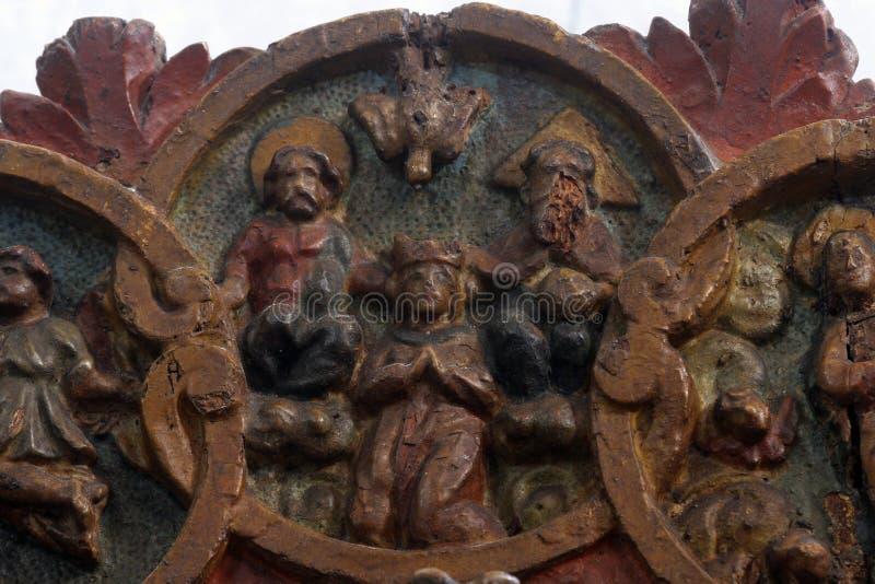 De Kroning van Heilige Maagdelijke Mary royalty-vrije stock afbeeldingen