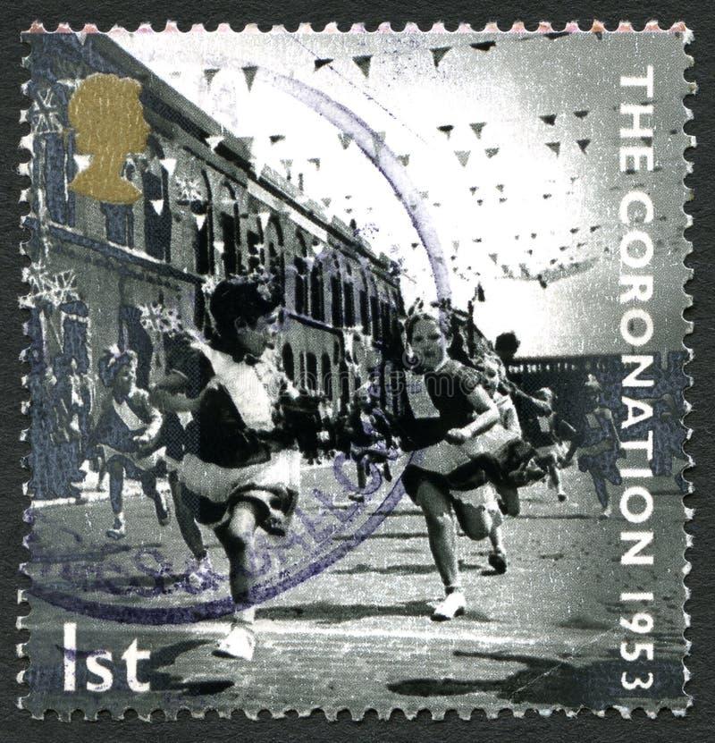 De Kronings Britse Postzegel stock fotografie