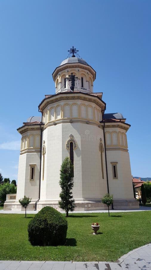 De Kroningskathedraal, Roemeense Orthodoxe Kathedraal stock afbeeldingen