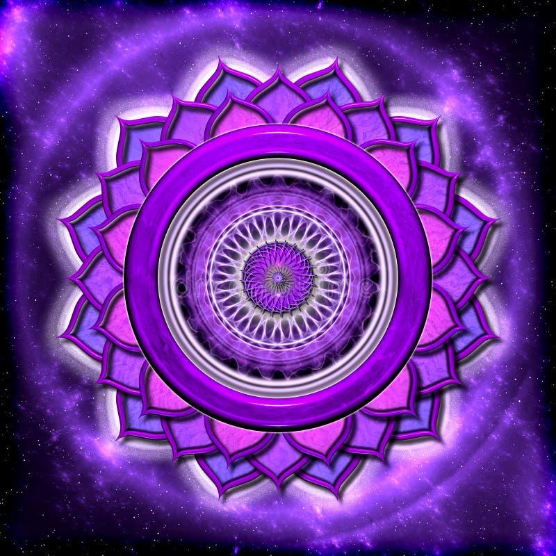 De kroon Chakra stock illustratie