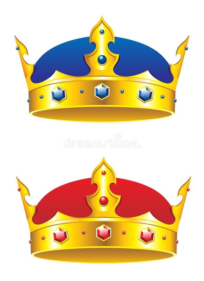 De kroon van de koning met gemmen royalty-vrije illustratie