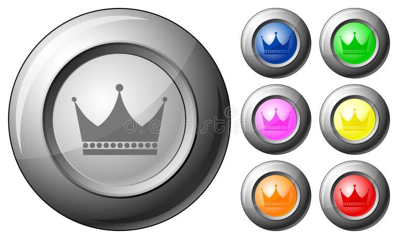 De kroon van de gebiedknoop royalty-vrije illustratie