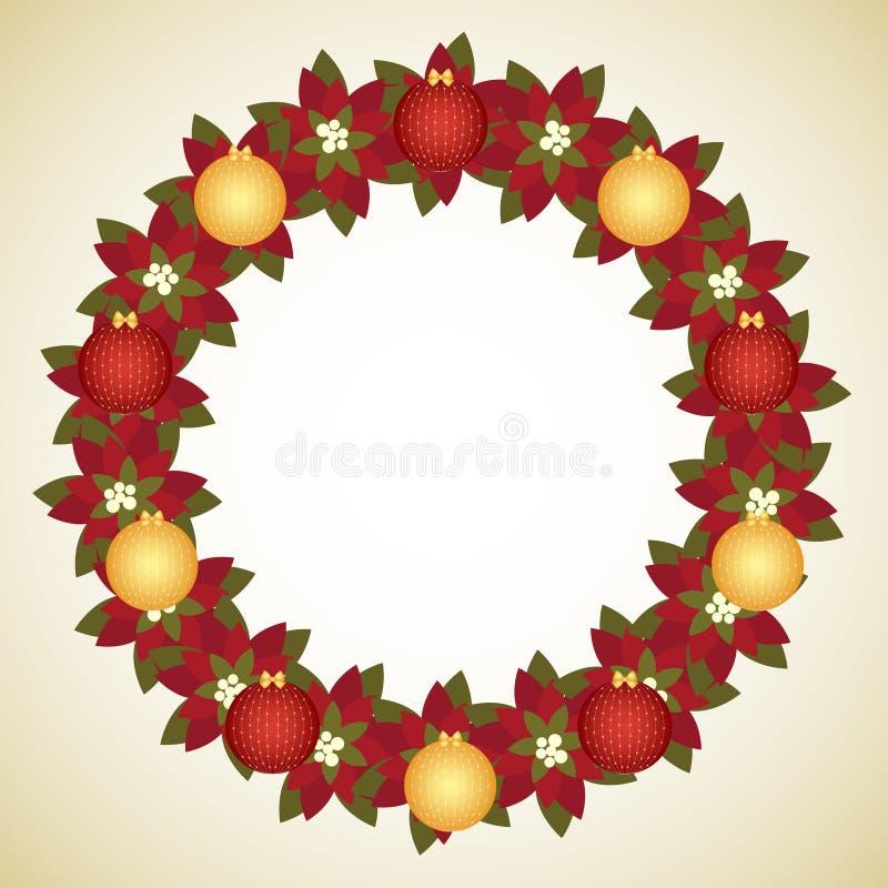 De kroon van Kerstmis royalty-vrije illustratie