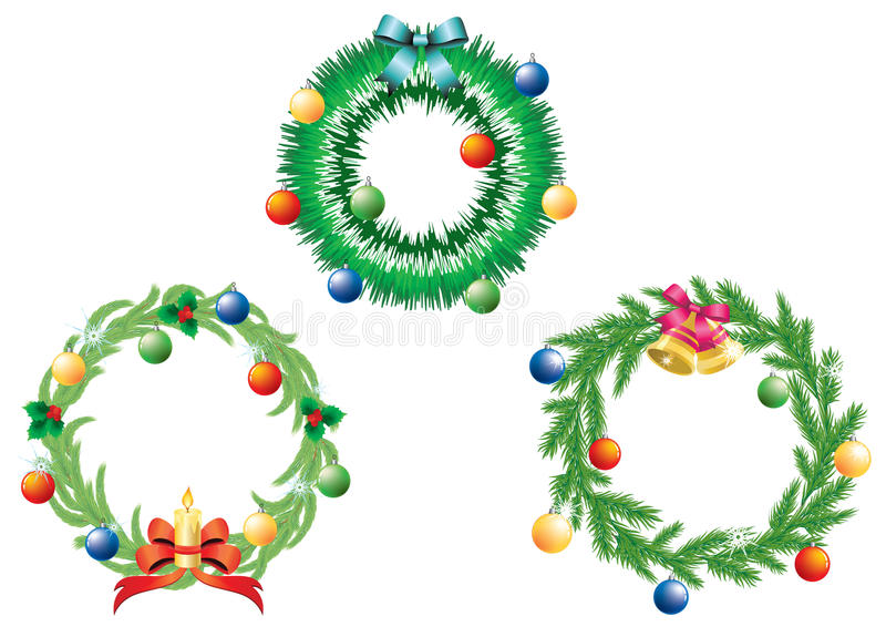 De kroon van Kerstmis. vector illustratie