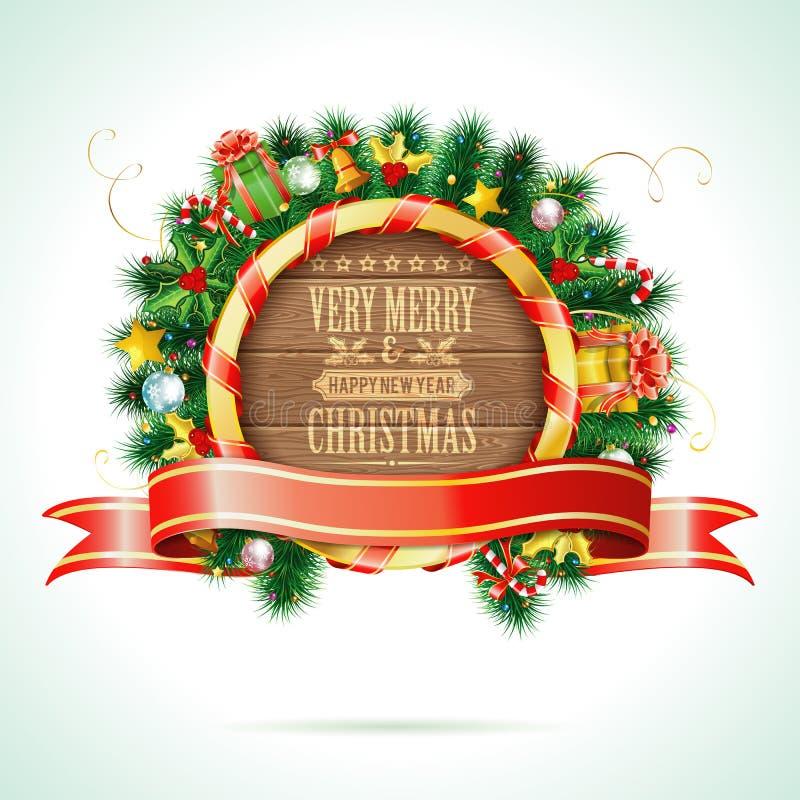 De kroon van Kerstmis stock illustratie