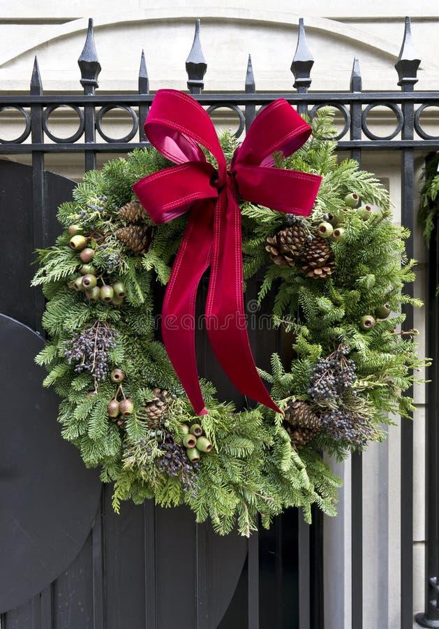 De kroon van Kerstmis van de Stad van New York stock foto's