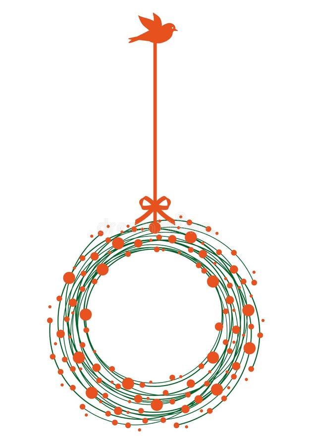 De kroon van Kerstmis, vector vector illustratie