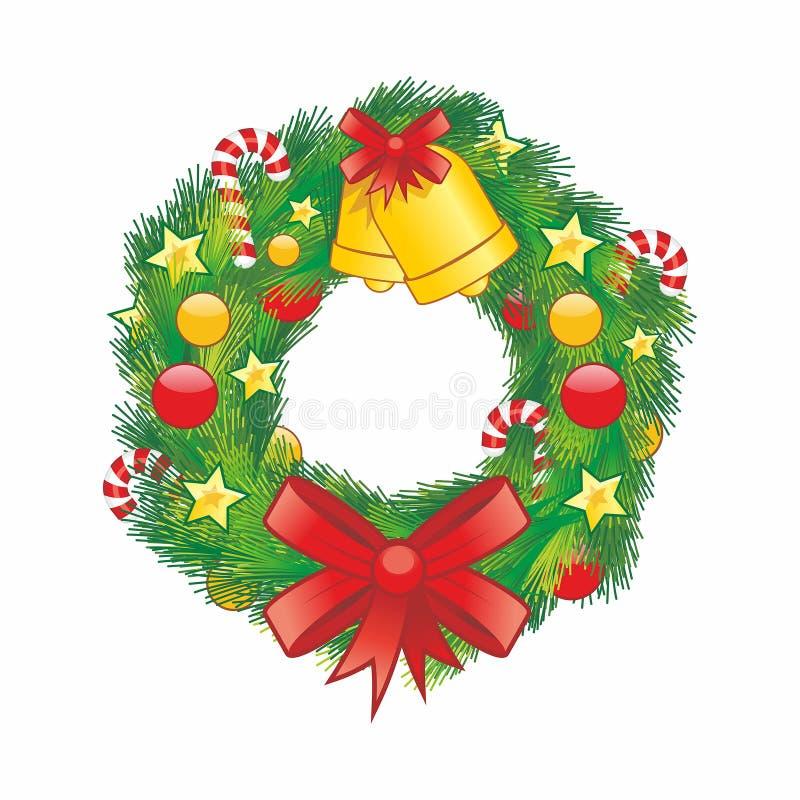 De kroon van Kerstmis Vector illustratie vector illustratie