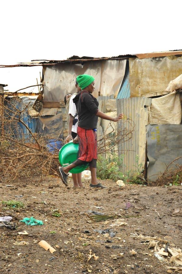 De krottenwijk van Nairobi stock foto